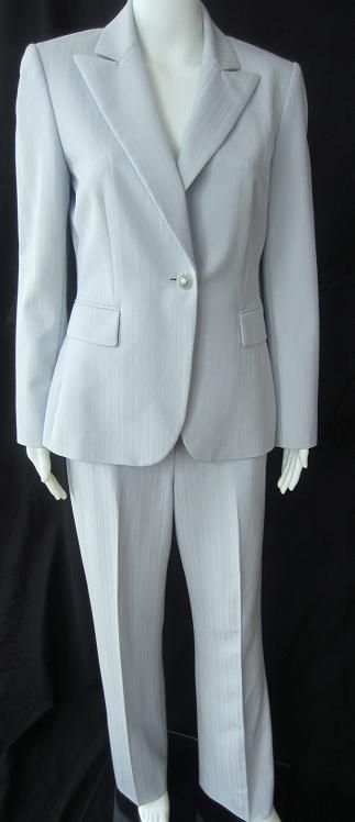 Stylishly Frugal - Tahari - Light Blue Pant Suit - Size 6, $49.99 (http://www.stylishlyfrugal.com/tahari-light-blue-pant-suit-size-6/). Interview collection
