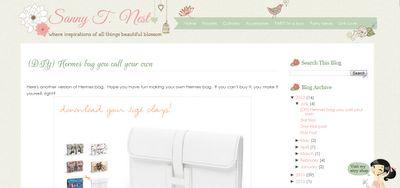 Sanny T Blogger Template Design | Personal Blog Design