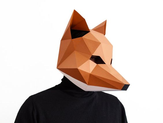 Paper patterns be ready and fantastic fox on pinterest for Fantastic mr fox mask template