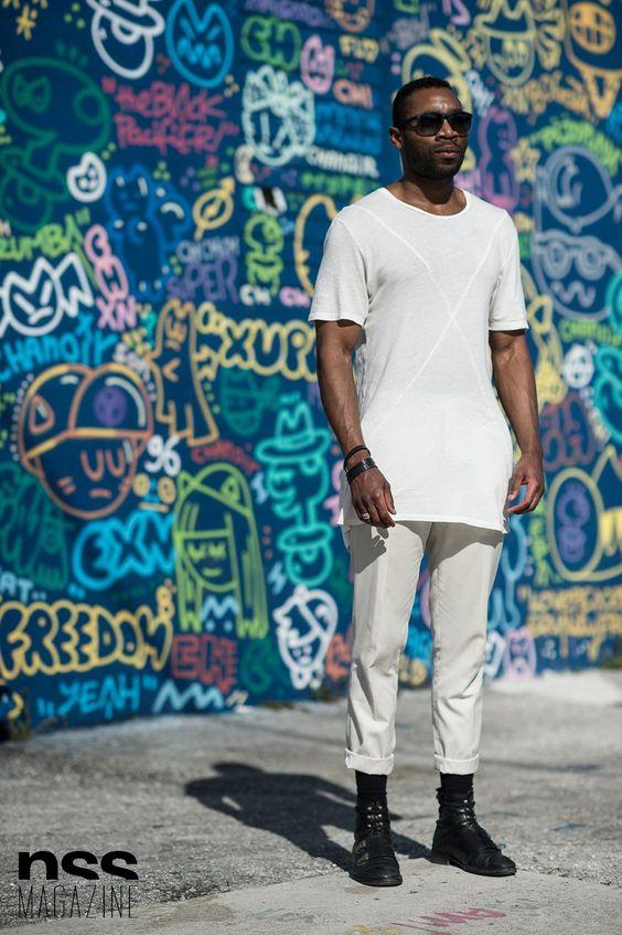 白Tシャツ海外メンズコーデKwasi - Streetstyle in Miami