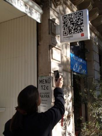 easy way to see the menue in Spain. easy window shopping with QR code