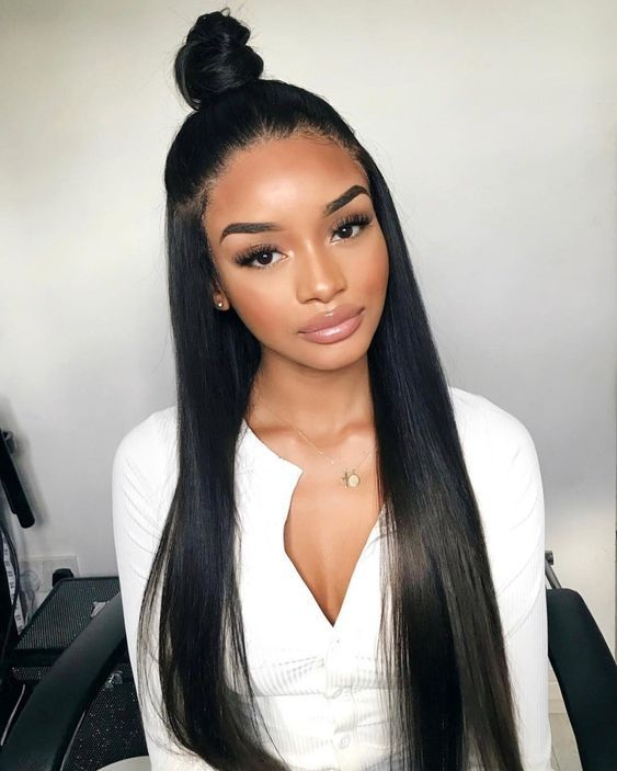 Uhair Peruvian Hair Straight Weave 3 Bundles With Lace Frontal Factory Direct Sale 100 Virgin Human Hair Extensions Hair Styles Long Hair Styles Straight Black Hair