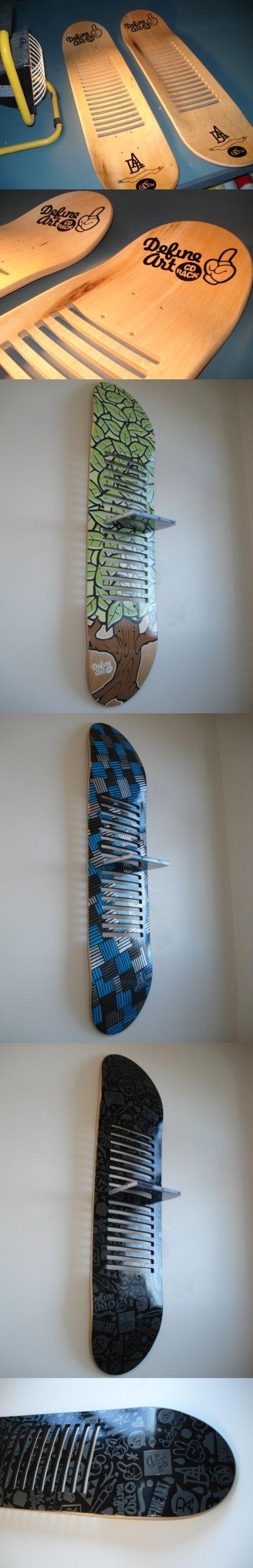 DefineArt CD racks (skateboards) by Glenn Smith, via Behance:
