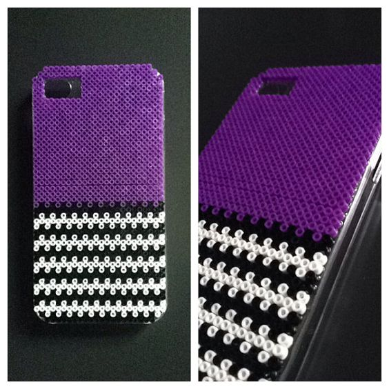 Hard case plastic cover decorated with mini hama by - Hama beads fundas ...