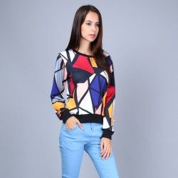 Sweatshirt avec motif Pop art