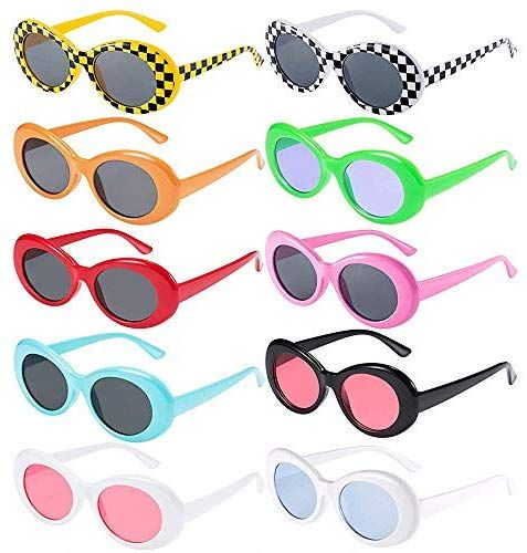 10 Pairs Retro Clout Oval Goggles Mod Thick Frame Round Lens S10 Pairs Retro Clout Oval Goggles Mod Thick Fram Sunglasses Boys Sunglasses Round Lens Sunglasses