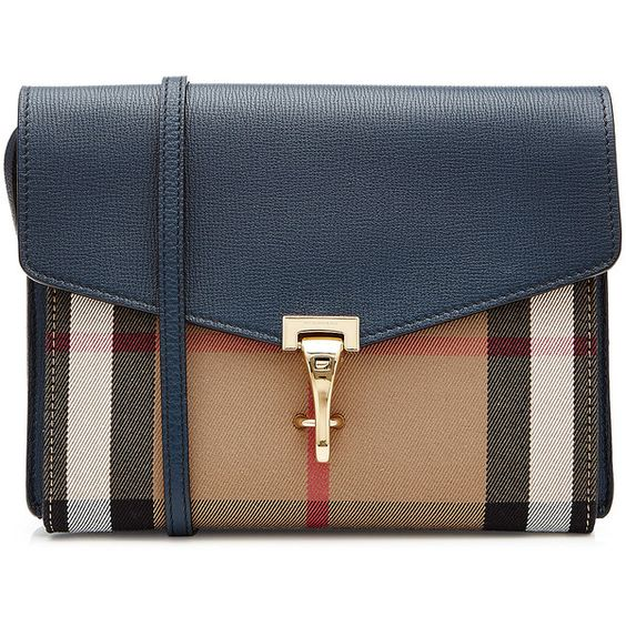 Burberry Shoes & Accessories Leather Shoulder Bag (€895) ❤ liked on Polyvore featuring bags, handbags, shoulder bags, multicolor, colorful purses, blue leather handbag, leather shoulder bag, blue shoulder bag and leather shoulder handbags