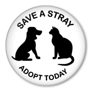 Save A Stray Adopt Today - Animal Rescue button badge: