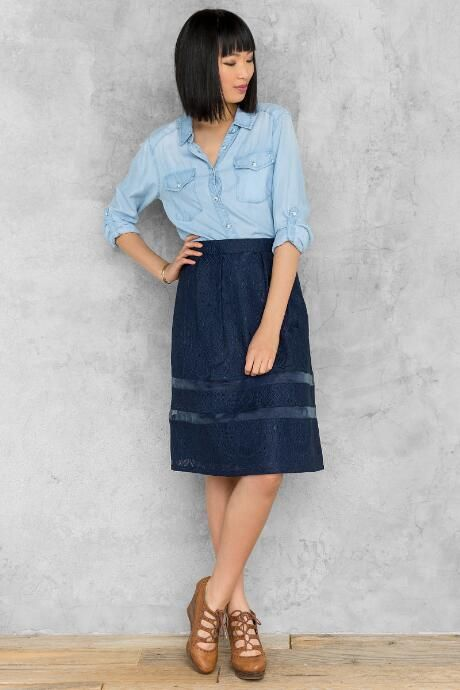 Loretta Lace Midi Skirt $44.00