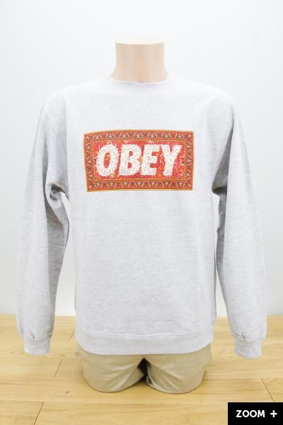 Obey Magic Carpet // Heather Grey 60,00€ #obey #obeygiant #obeyclothing #crewneck #streetart