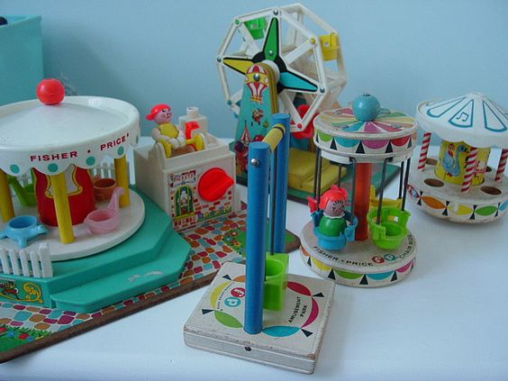 Fisher Price Amusement Part. (I want this so very badly.  My grandma had some of these at her house along with a play mat and train.)