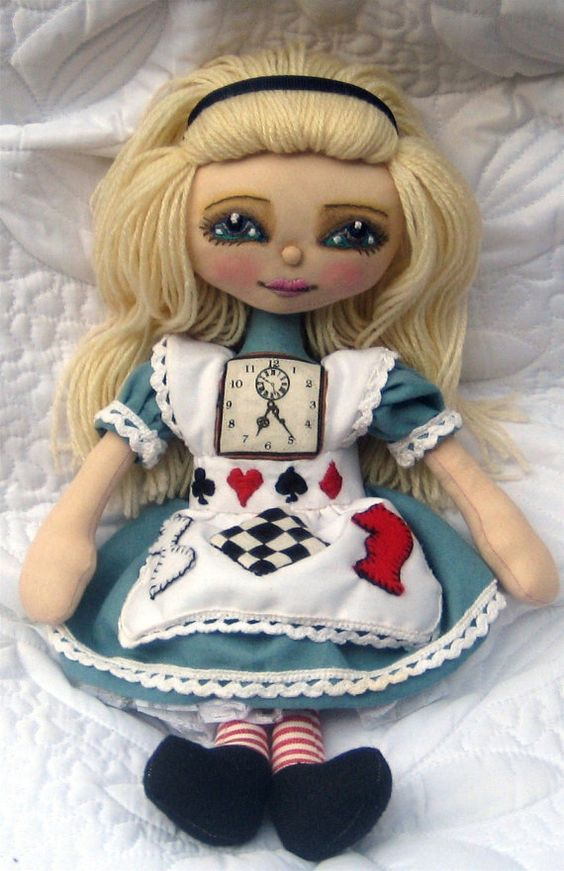 Made to Order Alice in Wonderland Cloth Art by clairebearsfolly
