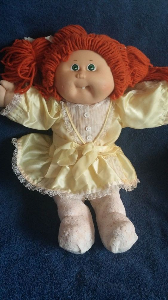 Vintage Cabbage Patch Doll Red Headed Long Hair Green Eyes Girl Doll 1980s Cabbagepatchkids Vintage Cabbage Patch Dolls Cabbage Patch Dolls Cabbage Patch Kids