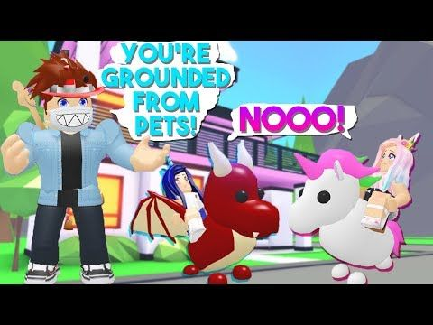 He Took Our Pets Away Because We Did This Roblox Adopt Me New