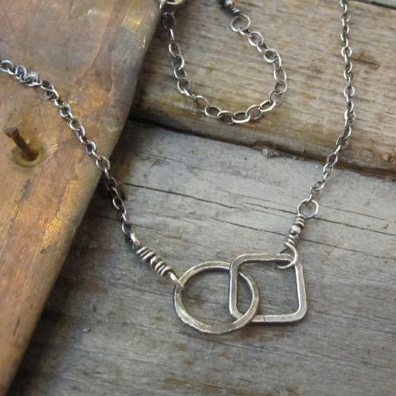Opposites Attract Oxidized Sterling Silver by JulesArtwear on Etsy, $29.00