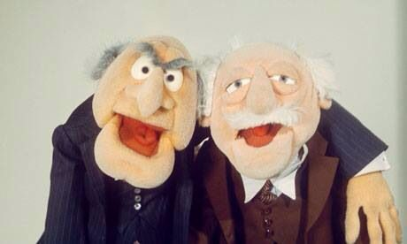 Waldorf: Well, all good things must come to and end. Statler: What's that have to do about this show? Both: D'oh Ho ho heh heh!!