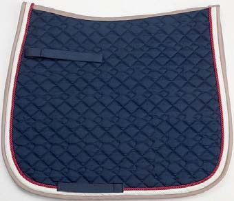 Navy/Red/Beige Saddle Pad