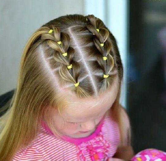 Braided Hairstyle Children Kids For School Little Girls Children S Hairstyles For Long Hair Cute Child Childre Girl Hair Dos Little Girl Hairstyles Hair Styles