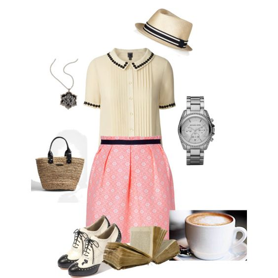 Book Club Brunch, created by miss-tine on Polyvore
