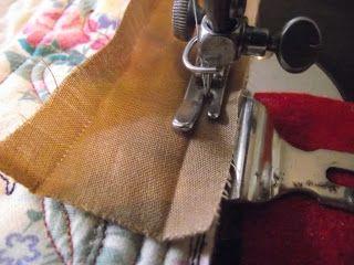 Overlapping Binding - Lizzie Lenard Vintage Sewing