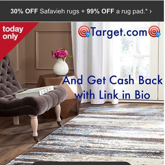"""TODAY ONLY Follow steps below to get cash back & $10 for your order!! 1. Click link in bio @targetclearancequeen  2. Choose $10 gift card. (ebates gift card is actually $10 cash that will be given as cash back) Gift card will be mailed after first order is made  3. Finish setting up account and input """"TARGET"""" in search & Hit """"shop now"""" to be redirected to the target.com  4. Once on target.com put """"Safavieh Rugs"""" in search bar. Add desired items to cart! Shipping is free  5. Gift card will be…"""