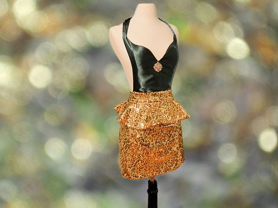 All+That+Glitters+Apron+by+TOOTLEPIPbyNicole+on+Etsy,+$99.99