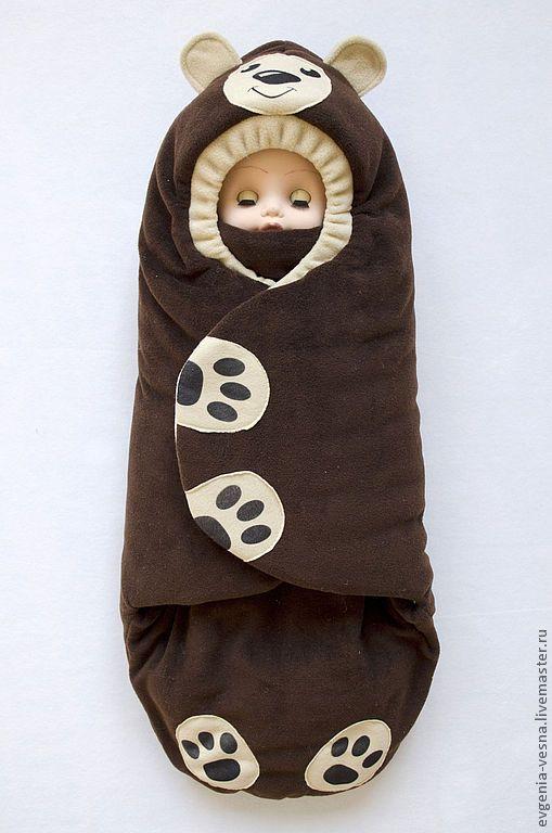 """Купить Конверт-кокон на выписку """"Мишка"""" - конверт, для новорожденного, на выписку, для прогулок, кокон, конверт-кокон:"""