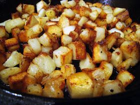 Best method for cooking skillet home fries that I've tried yet!