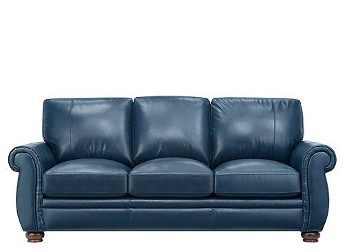 A Credit To Fine Leather Furniture The Preston Leather Sofa Is