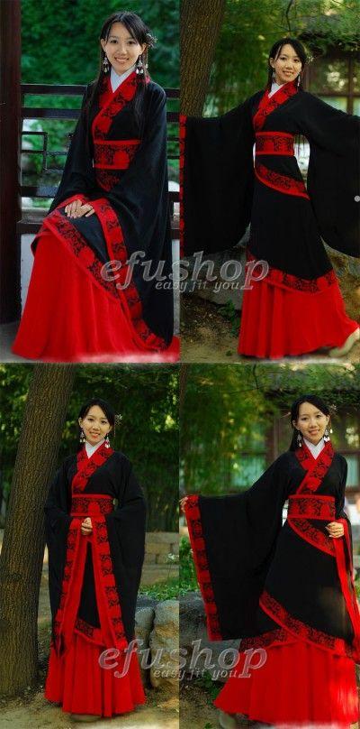 name black cotton hanfu dress custom made cheongsam. Black Bedroom Furniture Sets. Home Design Ideas