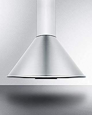 Amazon Com Seh6624c 24 European 600 Cfm Range Hood With Curved Canopy And Chimney Design 3 Speed Fan Height Adjustable Chimney Design Range Hood Exhaust Hood
