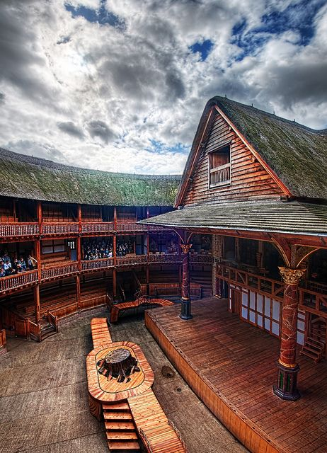 """Shakespeare's Globe Theatre - not the original, but near the foundations (200m away). The first Globe was destroyed by fire in 1613. A replacement was built, but later closed (along with all theatres) in 1642 during the English Civil War.  It was considered """"not seemly to indulge in any kind of diversions or amusements during such troublous times."""" England became a republic, but it didn't take. The monarchy (& theatres) returned during the """"Restoration"""", from 1660. SE1, London Bridge Tube."""