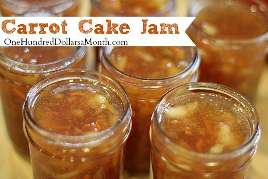 Carrot cake jam, Carrot cakes and Carrots on Pinterest