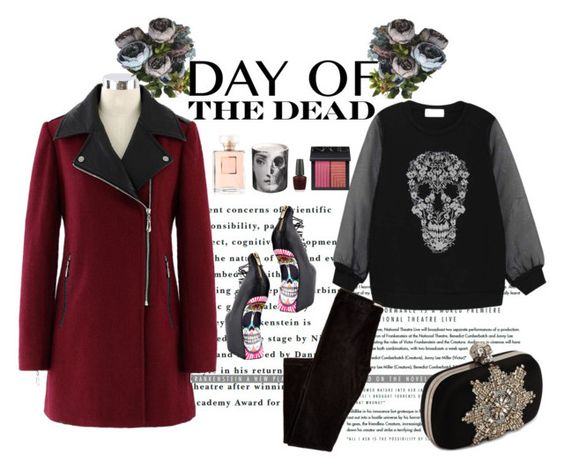 """""""Day of the Dead Flowers"""" by mandyslns26 ❤ liked on Polyvore featuring TaylorSays, Alexander McQueen, OPI, Fornasetti, NARS Cosmetics and Dayofthedead"""