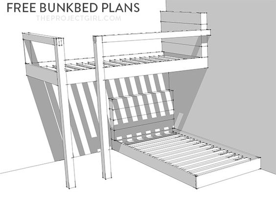 FREE Bunkbed Plans - How to design and build custom bunk beds | Jenallyson - The Project Girl - Fun Easy Craft Projects including Home Improvement and Decorating - For Women and Moms