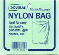 "Multi-purpose Nylon Bag by Douglas Net Company. $6.95. Laundry Bag. Multi-purpose Nylon BAg. This versatile bag,made of extra-strength white nylon netting, is useful for many purposes. Live fish, laundry, athletic departments, etc. It comes with a braided pull-string with a sliding lock-button. Size: 36"" x 24"" 1/4"" mesh. Made in USA>. Save 17% Off!"