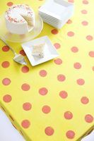 Try This: White Tablecloth Makeover - A Beautiful Mess