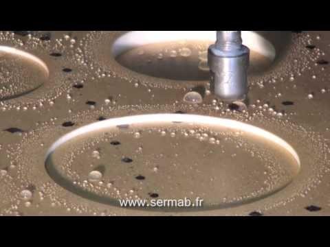 Découpe jet d'eau pure - masque de mousse