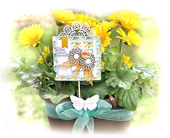 Mother's Day: Paper pick to add to a potted flower - Prima