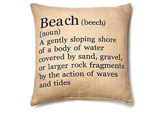 Jute Pillow, Beach on OneKingsLane.com