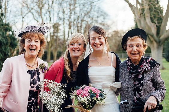Granny, Mum, Sister & Bride. Malcolm & Laura's Pink & Scottish Wedding, Stotfold. | Mustard Yellow Photography #wedding #photography