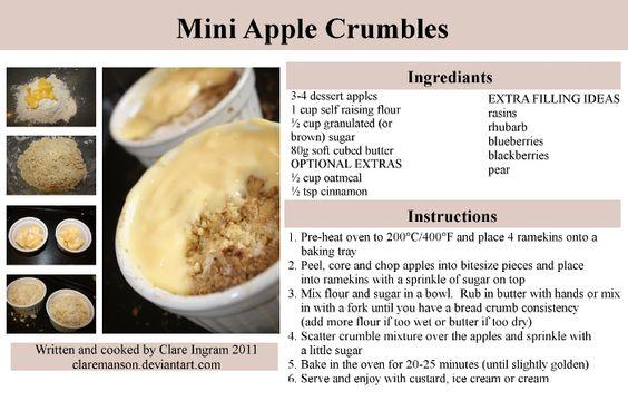 Mini Apple Crumble Recipe by claremanson.deviantart.com on @deviantART