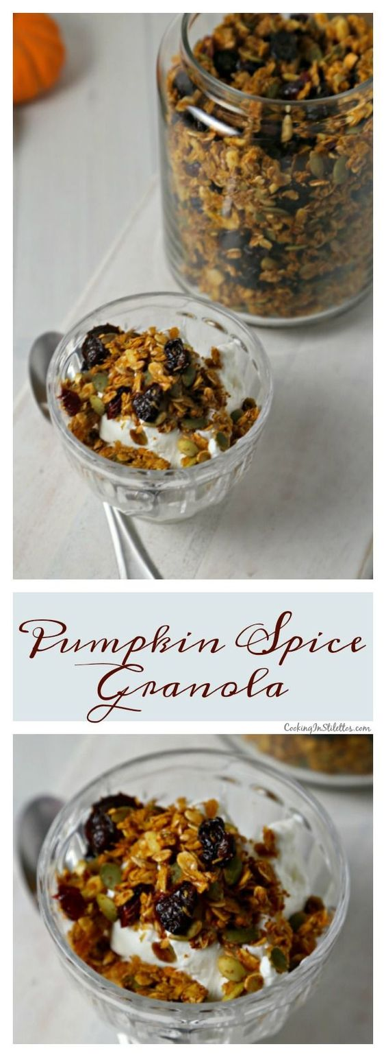 This easy Pumpkin Spice Granola from CookingInStilettos.com will be your new…