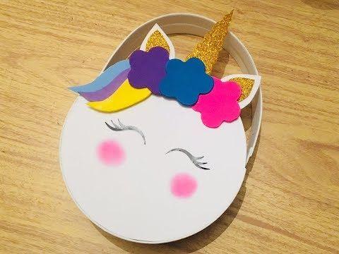 DIY: Bolsa unicornio foamy/ dulcero/ unicorn/ día del niño ...