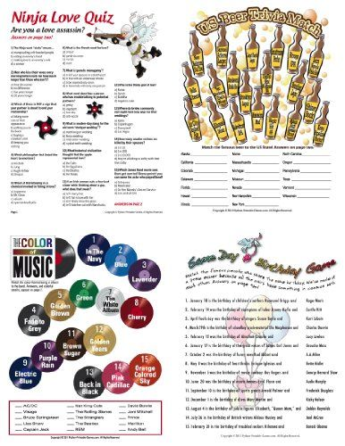 Printable birthday party games for adults fun games for for Birthday games ideas for adults
