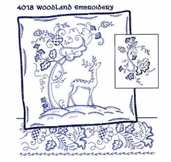 Hot Iron-on Transfers - Woodland Embroidery