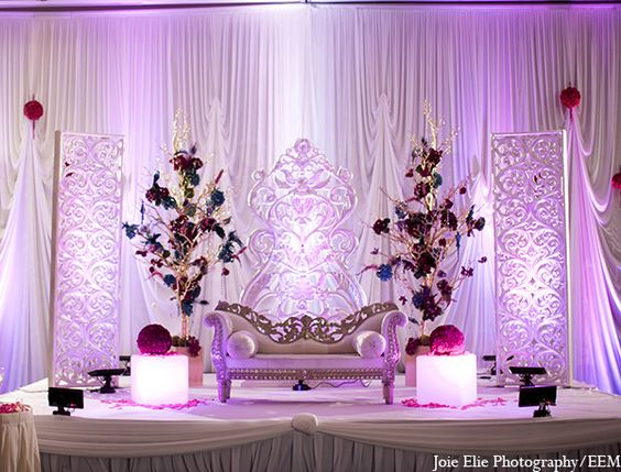 Receptions indian wedding receptions and wedding for Arabic wedding stage decoration