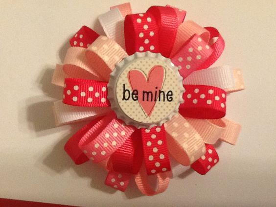 Large Valentine's Day Loopy Hair Bow. $6.