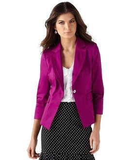 WHBM has the best blazers, this one in Very Berry is one of my favs.