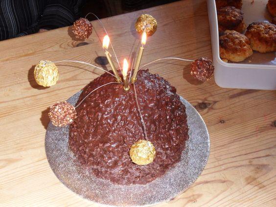 ferrero rocher cake | Giant Ferrero Rocher Cake